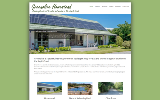 Greenolive Homestead | Kapiti Coast Accommodation