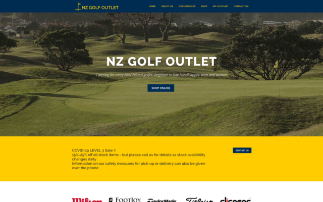 NZ Golf Outlet | Catering for every New Zeland golfer, beginner to low handicapper, men and women