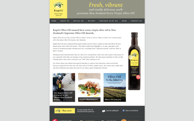 Kapiti Olives | Premium New Zealand extra virgin olive oil